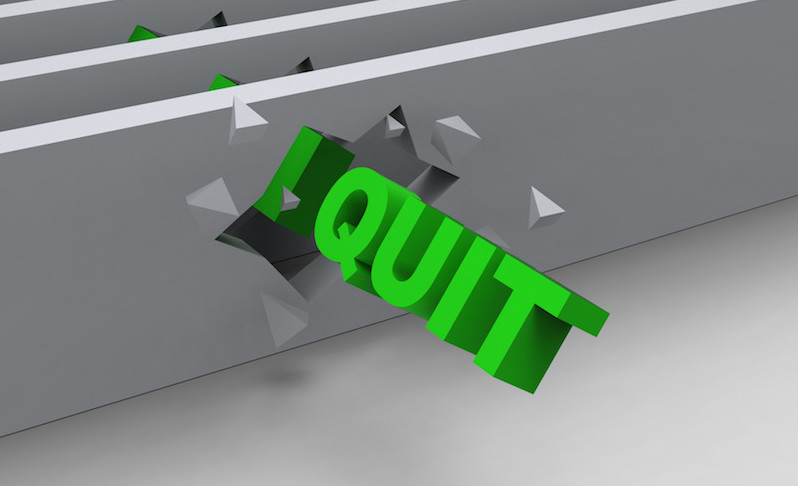 Quit Word Shows Resignation Or Resigning  Cassidy Education Ltd